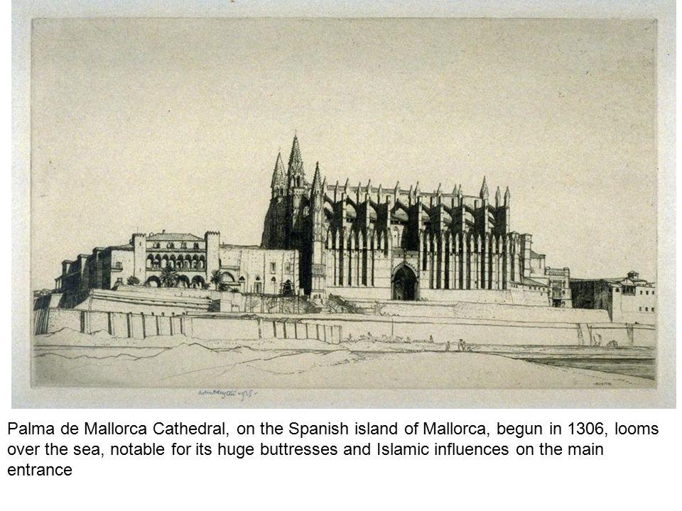 Palma de Mallorca Cathedral, on the Spanish island of Mallorca