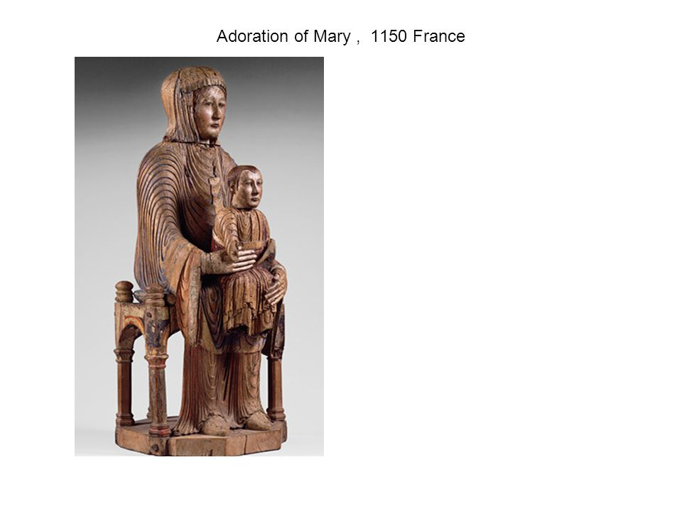 Adoration of Mary, 1150 France