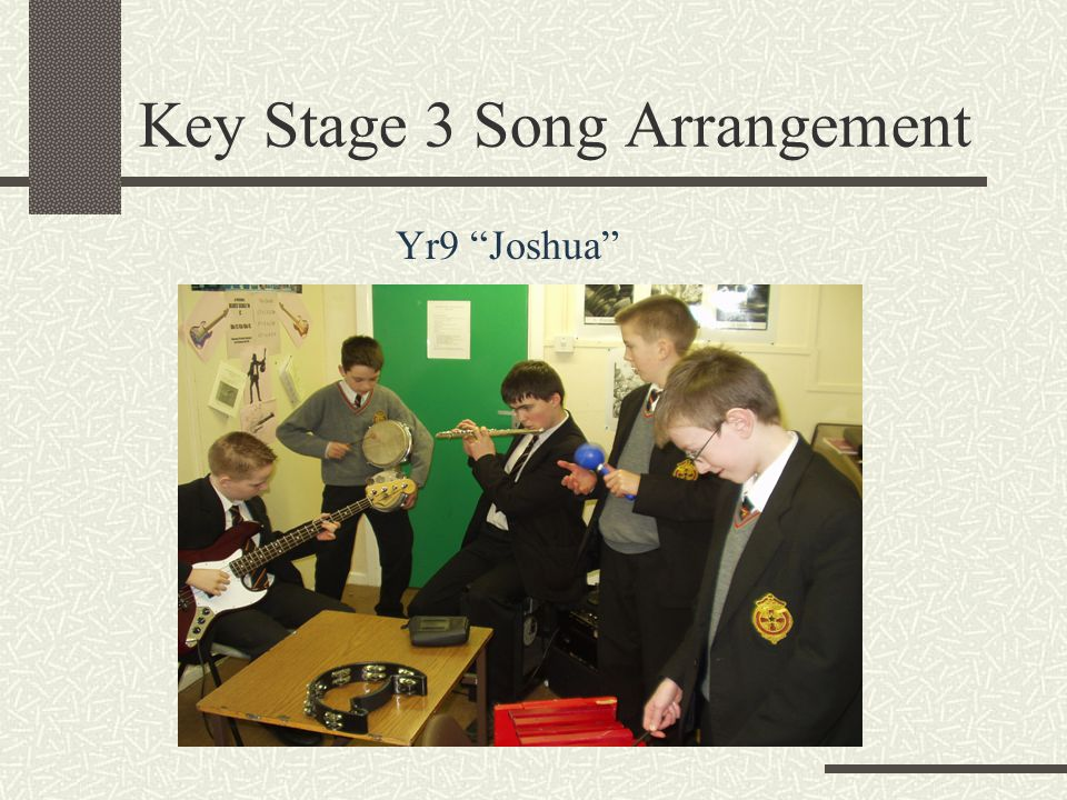 "Key Stage 3 Song Arrangement Yr9 ""Joshua"""