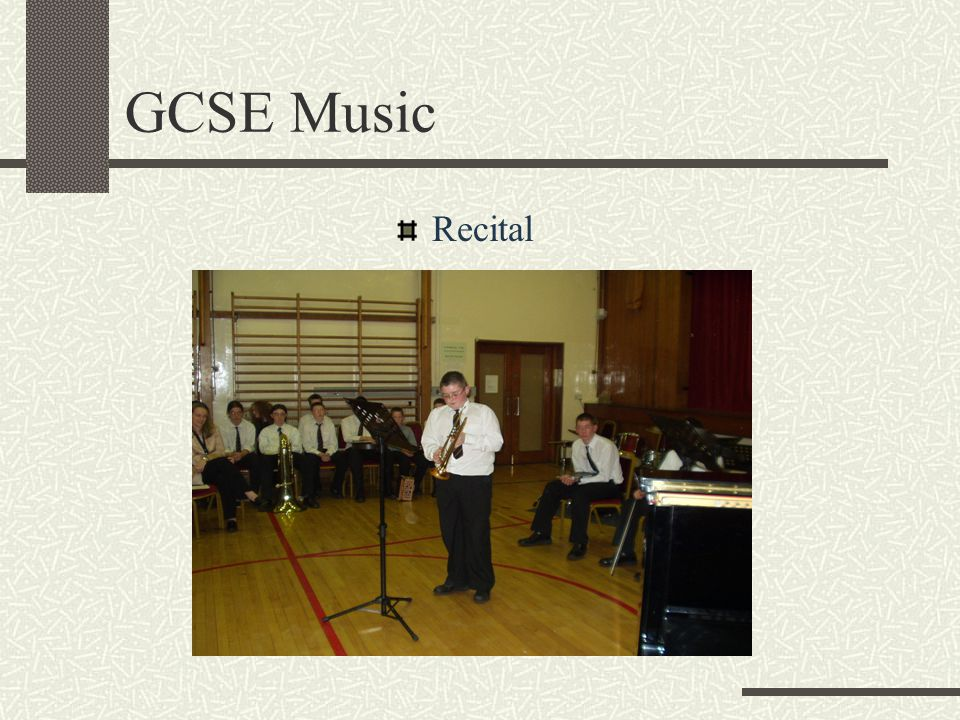 GCSE Music Recital