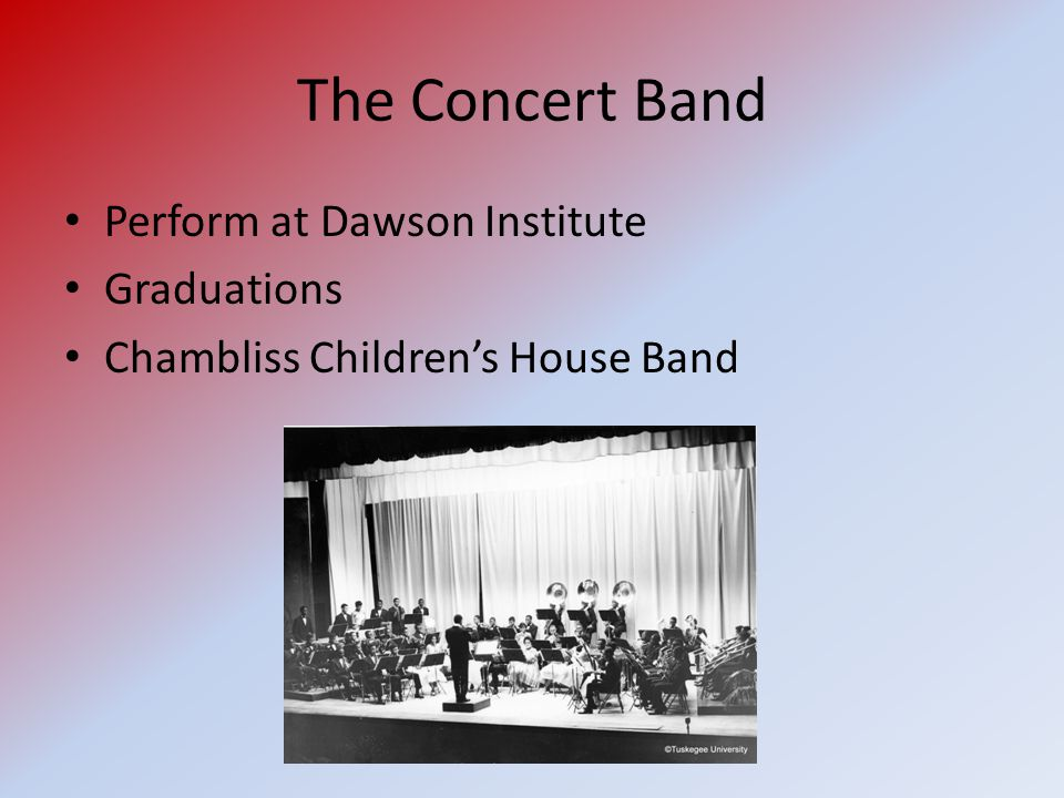 The Concert Band Perform at Dawson Institute Graduations Chambliss Children's House Band
