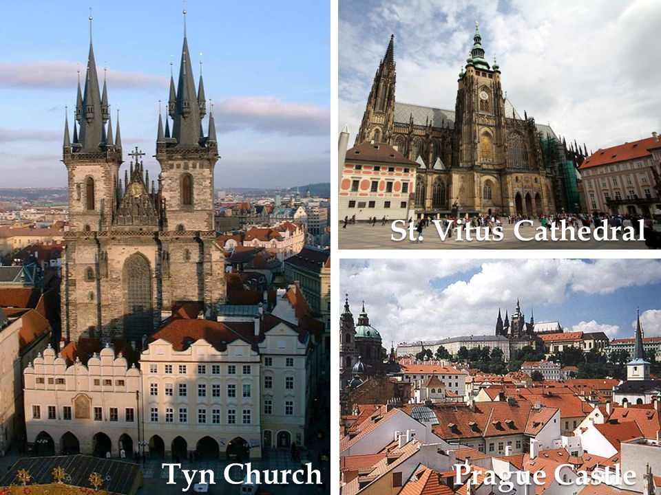 Tyn Church St. Vitus Cathedral Prague Castle