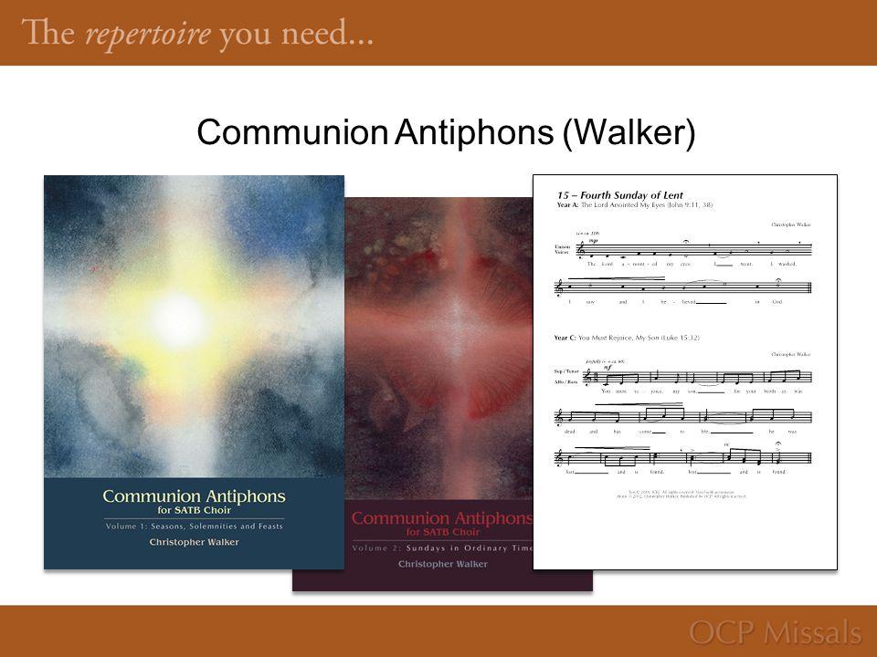 Communion Antiphons (Walker)
