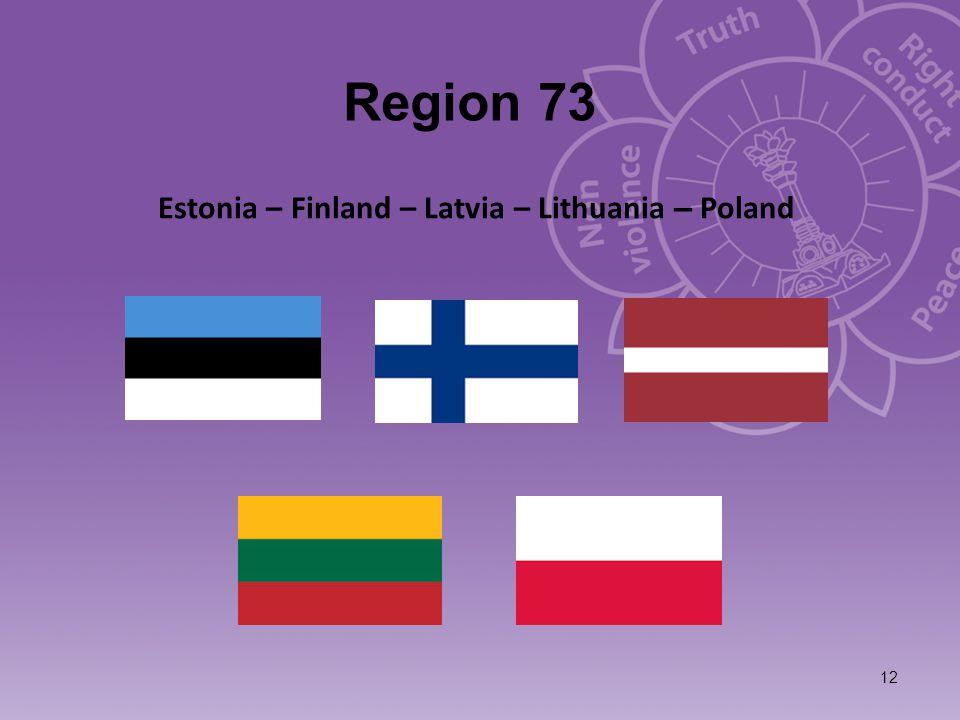 Region 73 12 Estonia – Finland – Latvia – Lithuania – Poland