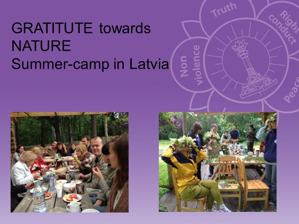 GRATITUTE towards NATURE Summer-camp in Latvia
