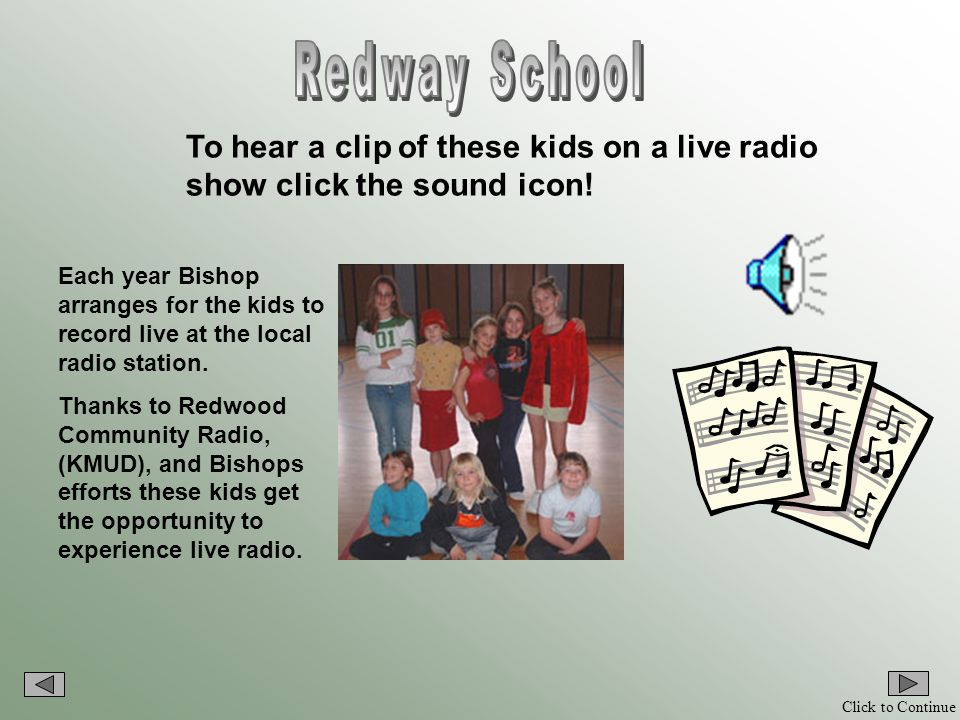 Click to Continue Bishop has a great knack for showing children how to sing and dance, and to enjoy the music.