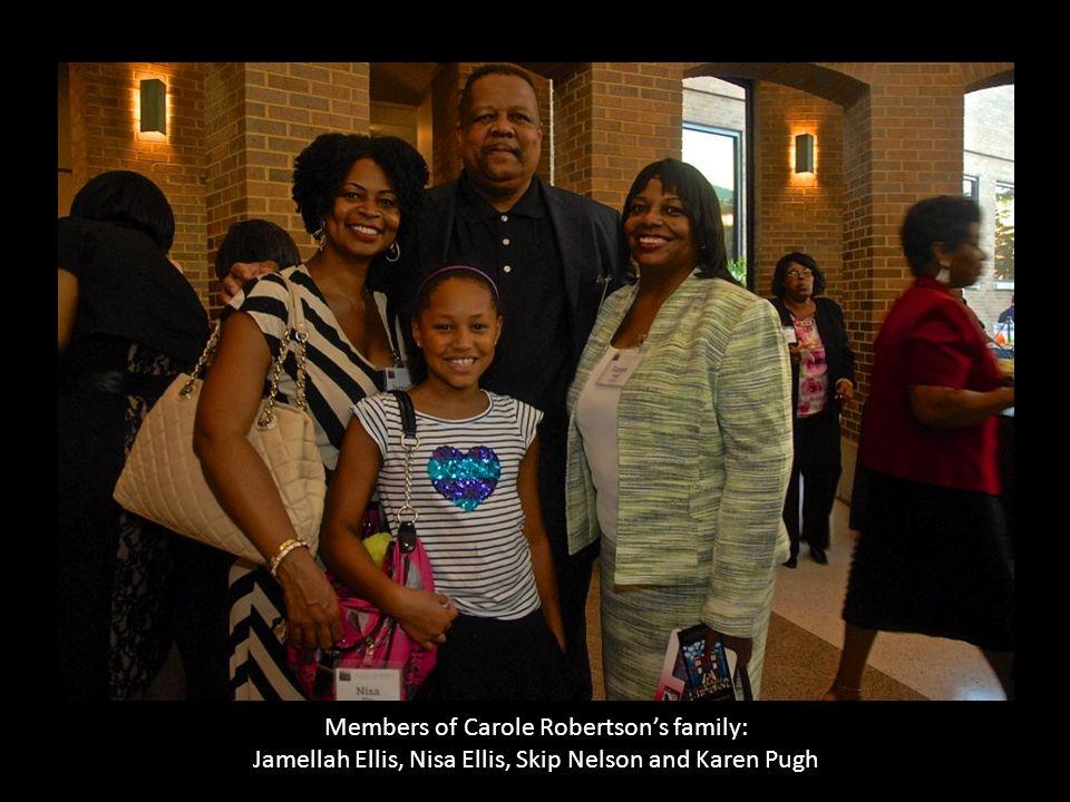 Members of Carole Robertson's family: Jamellah Ellis, Nisa Ellis, Skip Nelson and Karen Pugh b