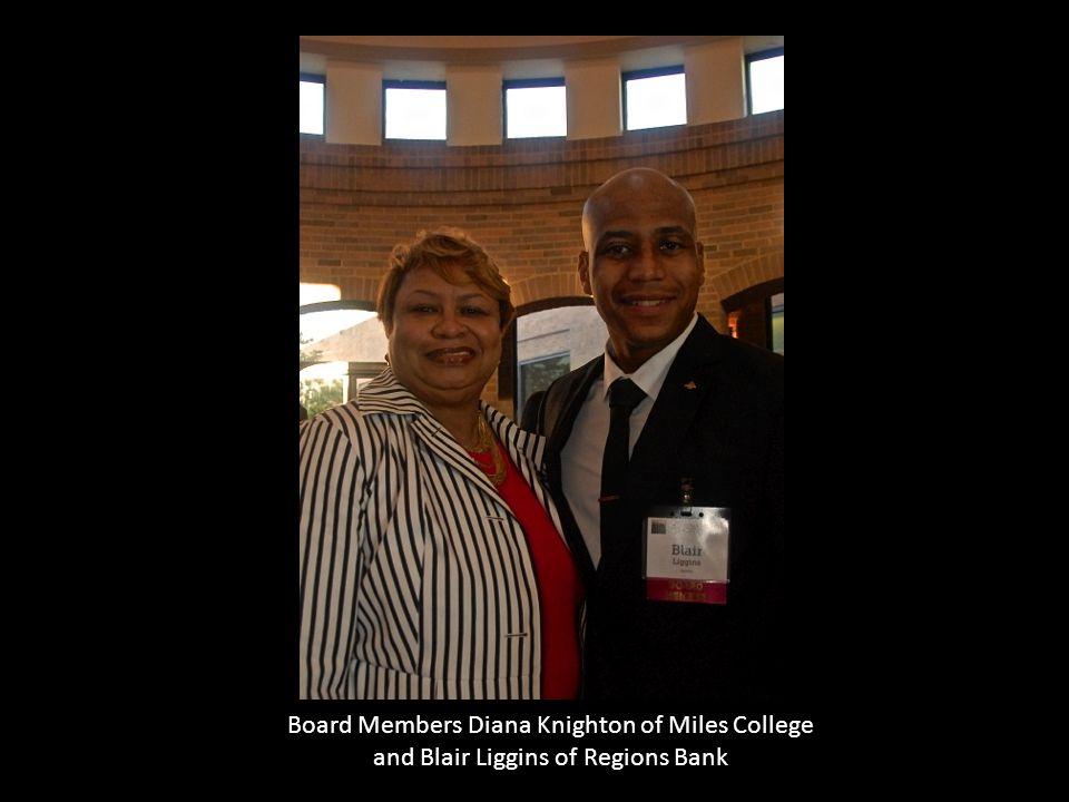 Board Members Diana Knighton of Miles College and Blair Liggins of Regions Bank