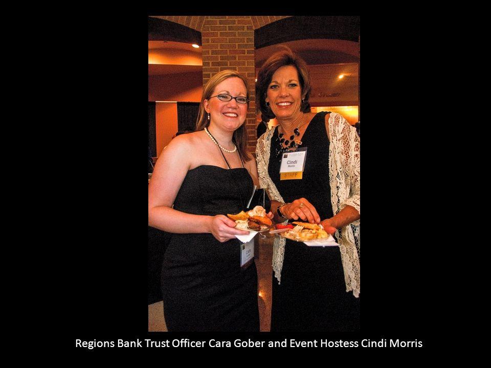 Regions Bank Trust Officer Cara Gober and Event Hostess Cindi Morris