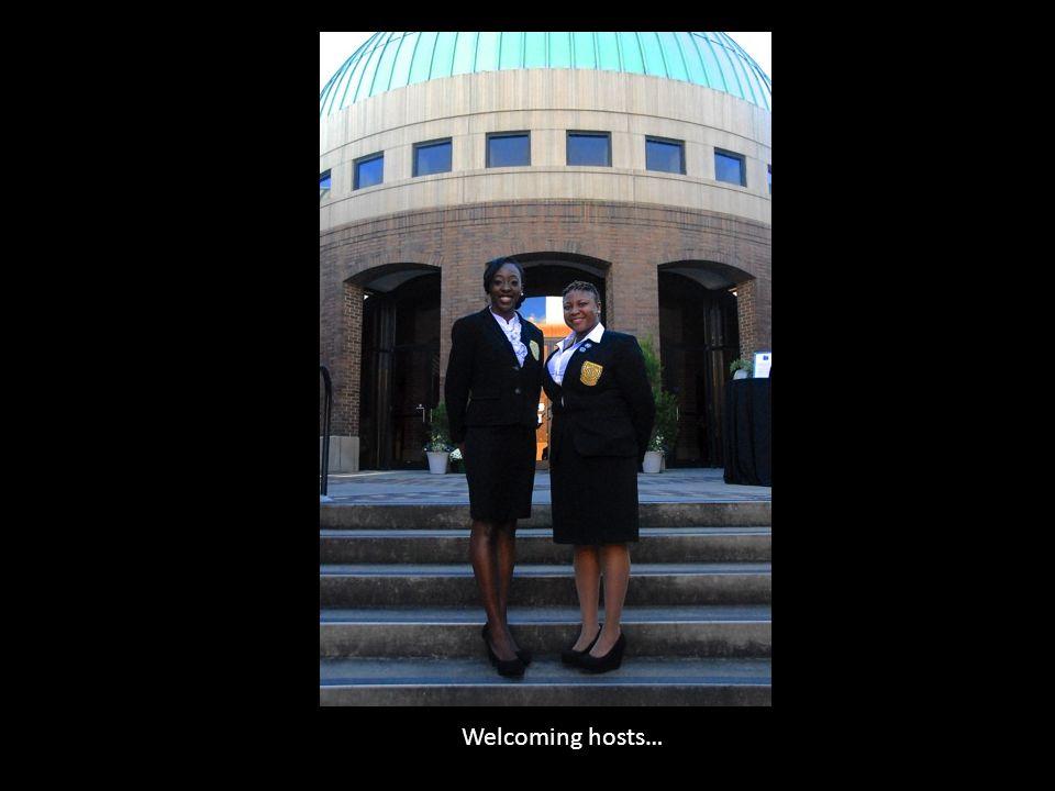 Welcoming hosts…