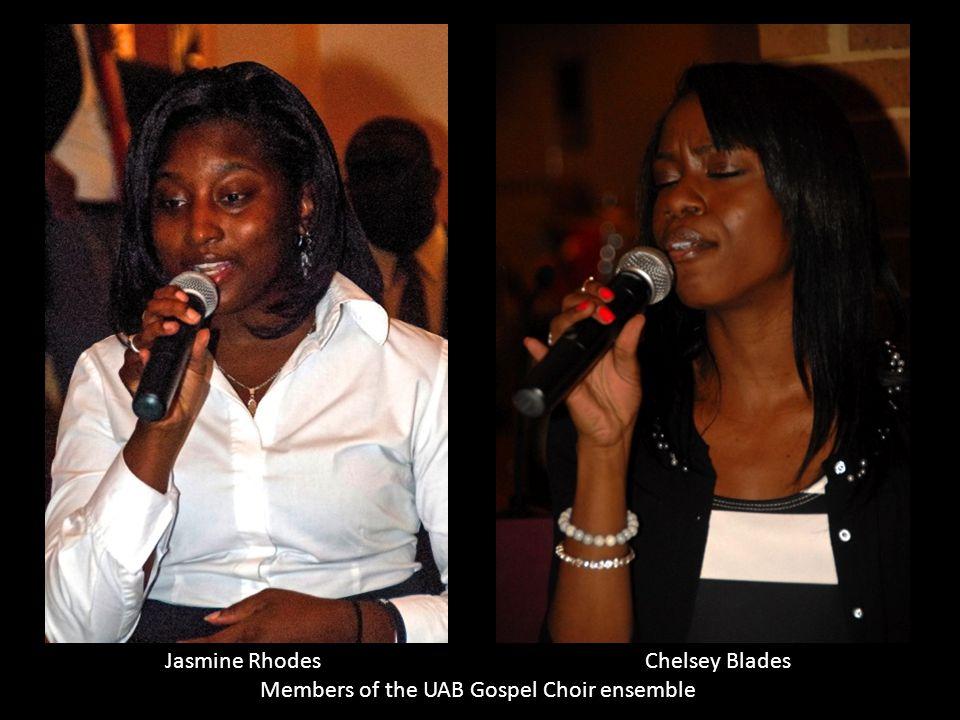 Jasmine Rhodes Chelsey Blades Members of the UAB Gospel Choir ensemble