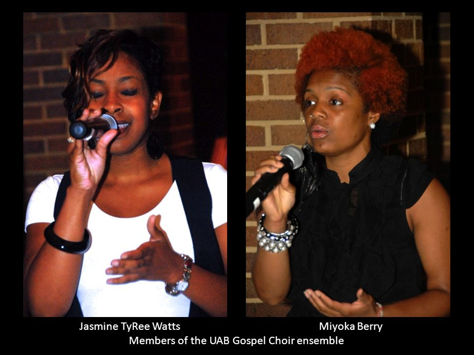 Jasmine TyRee Watts Miyoka Berry Members of the UAB Gospel Choir ensemble