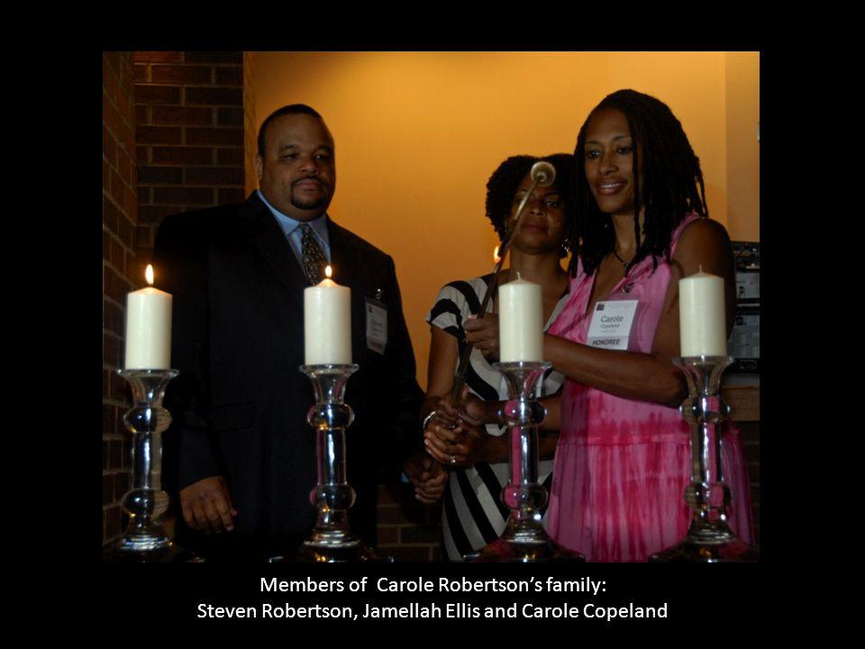 Members of Carole Robertson's family: Steven Robertson, Jamellah Ellis and Carole Copeland