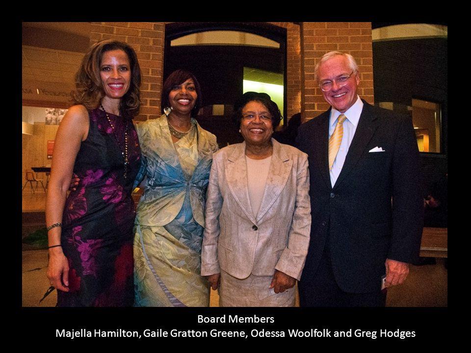 Board Members Majella Hamilton, Gaile Gratton Greene, Odessa Woolfolk and Greg Hodges