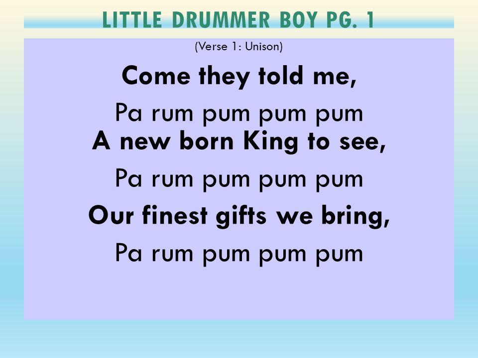 LITTLE DRUMMER BOY PG.