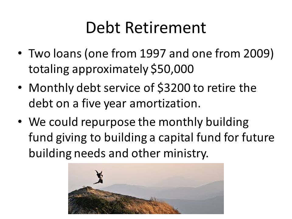 Outreach 10% of all giving above debt retirement for ministries like: – Sweet Potatoes concert to be held June 29 th – MCLE neighborhood survey – Heritage Day - celebrating our roots