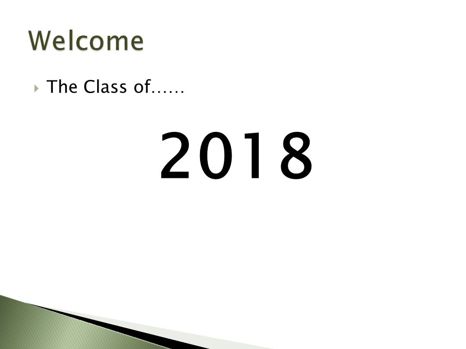  The Class of…… 2018