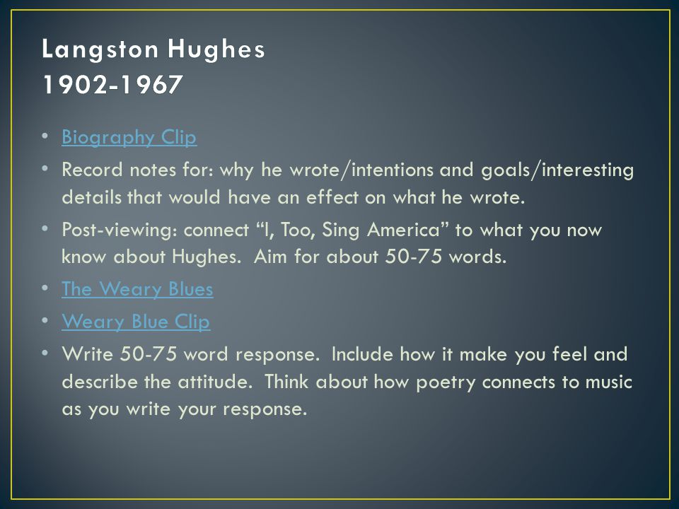 a response to salvation by langston hughes Free essay: salvation by langston hughes 'salvation', by langston hughes is part of an autobiographical work written in 1940 the author narrates a story.