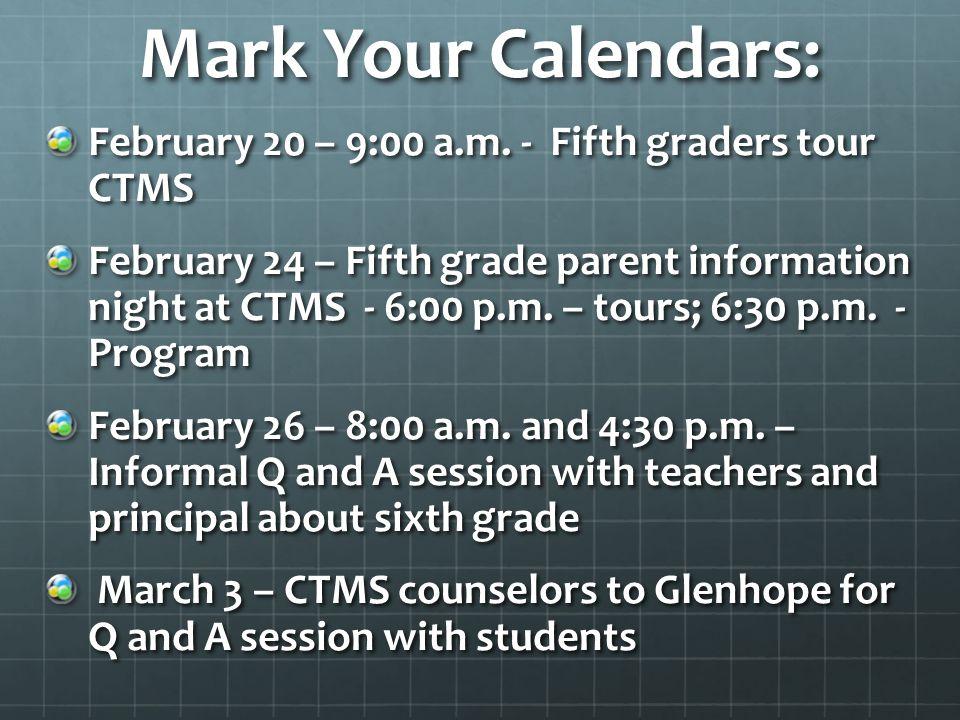 Mark Your Calendars: February 20 – 9:00 a.m.