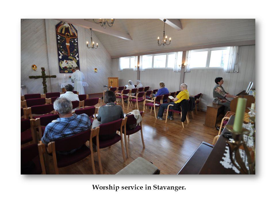 Worship service in Stavanger.