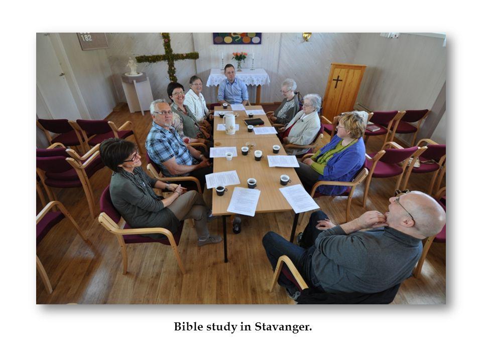 Bible study in Stavanger.