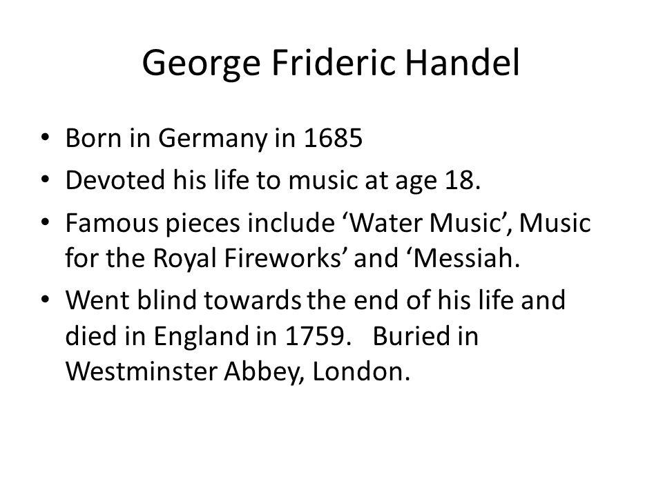 Handel's 'Messiah' is an 'Oratorio'.