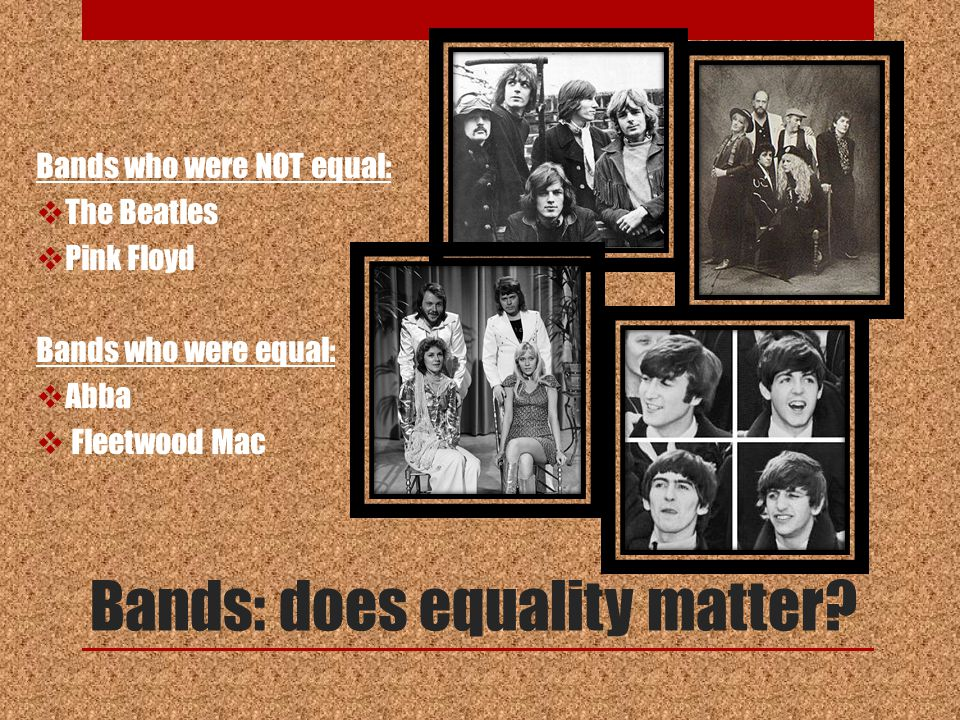 Bands: does equality matter.
