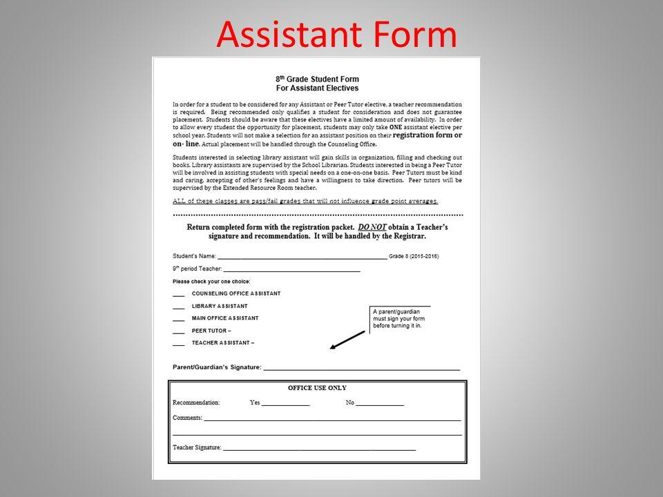 Assistant Form