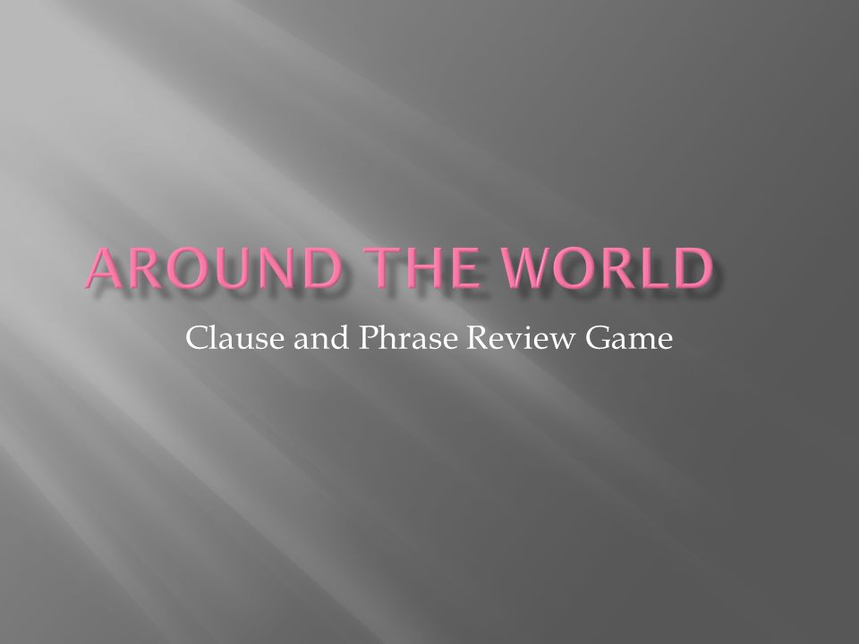 Clause and Phrase Review Game