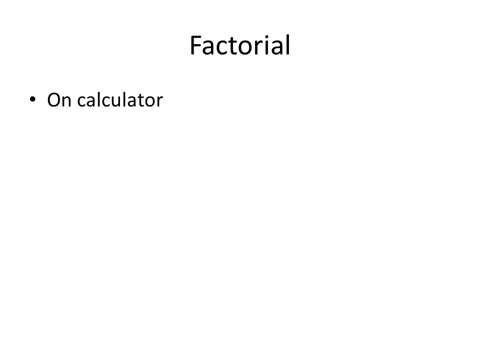On calculator