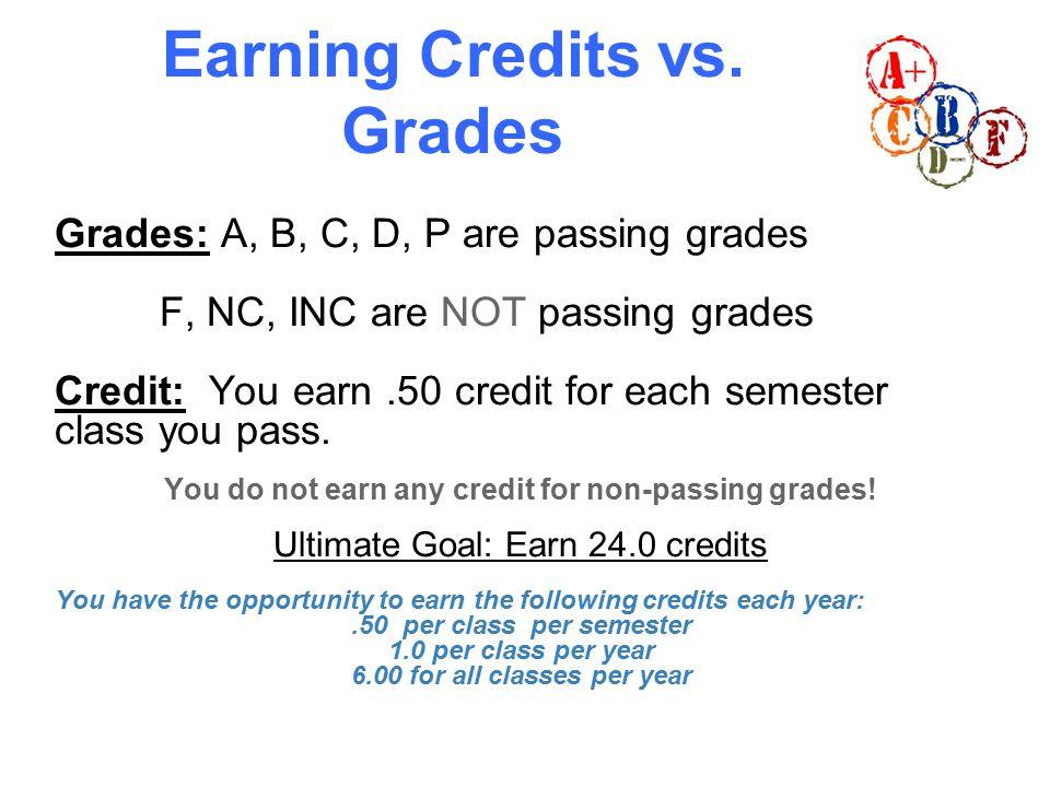 Earning Credits vs.