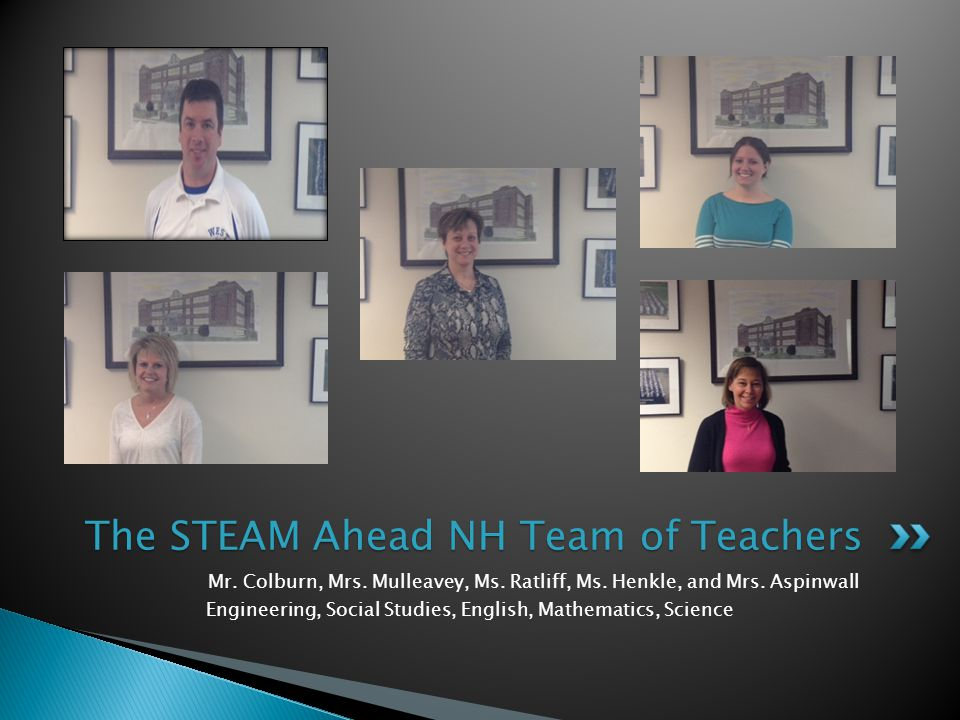 Mr. Colburn, Mrs. Mulleavey, Ms. Ratliff, Ms. Henkle, and Mrs.