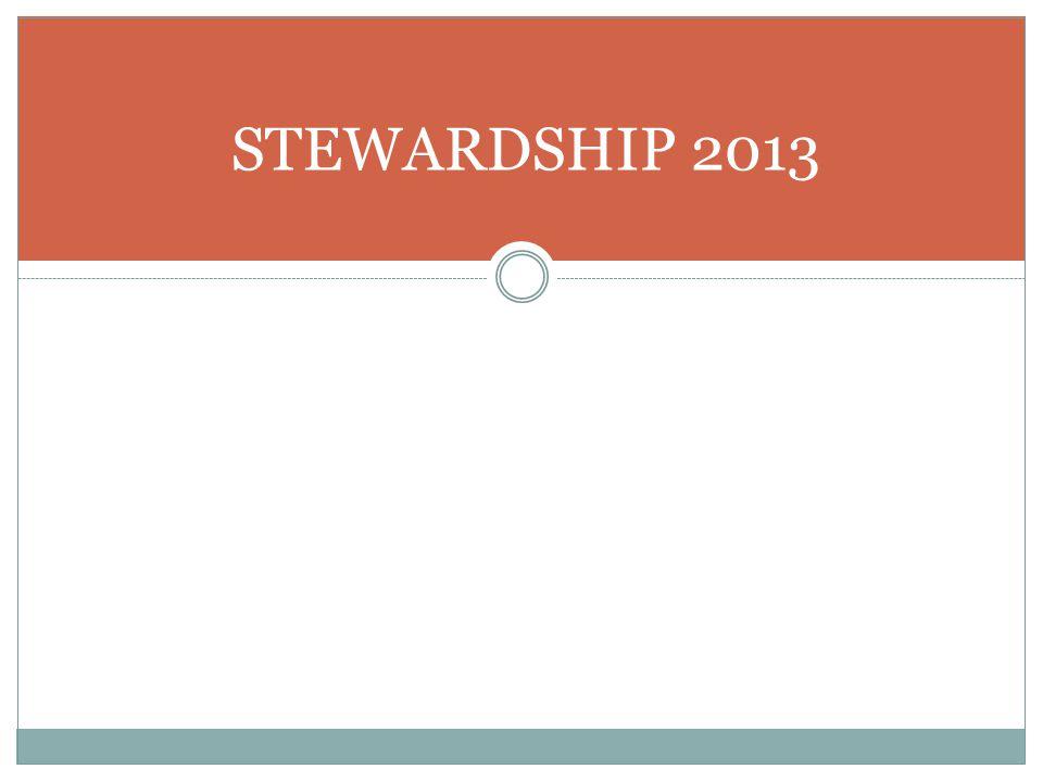 STEWARDSHIP 2013