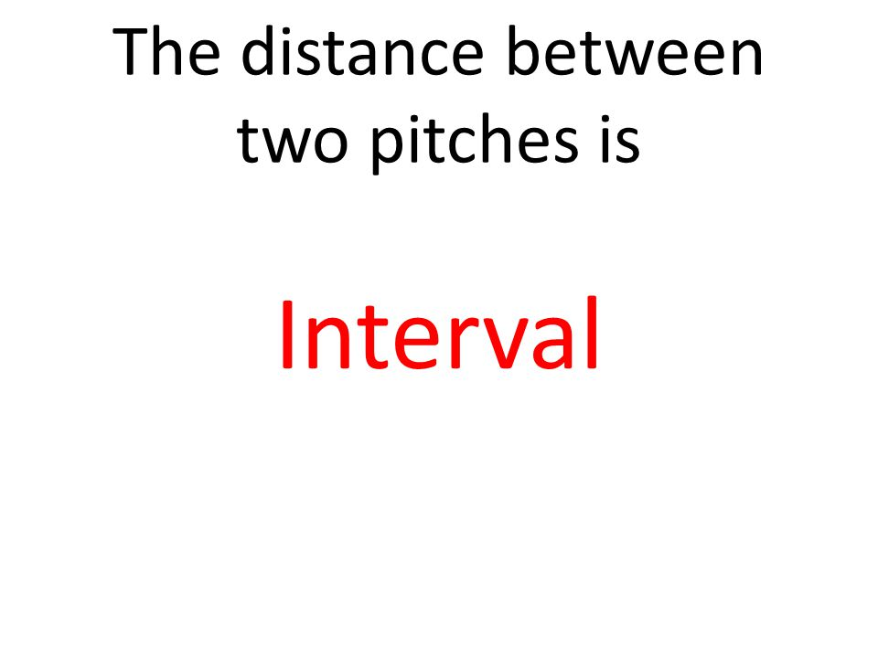 The distance between two pitches is Interval