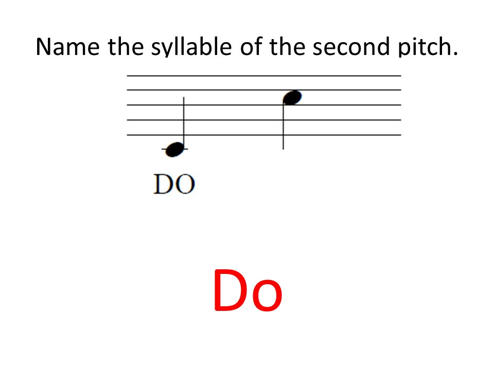 Name the syllable of the second pitch. Do