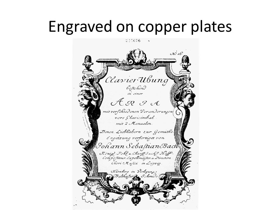 Engraved on copper plates
