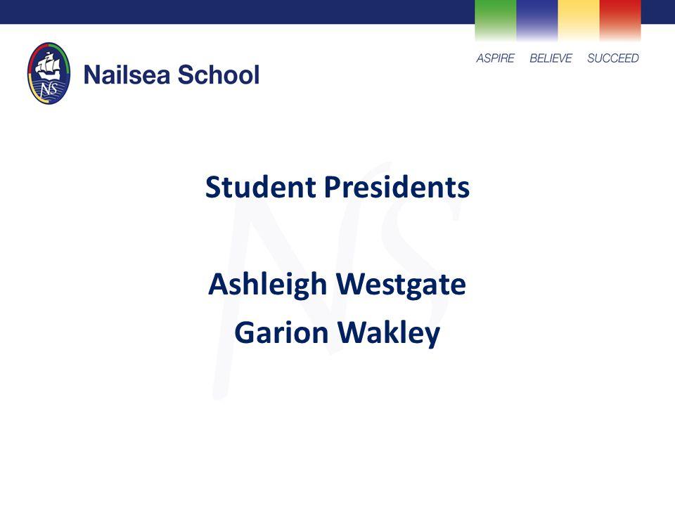 Student Presidents Ashleigh Westgate Garion Wakley