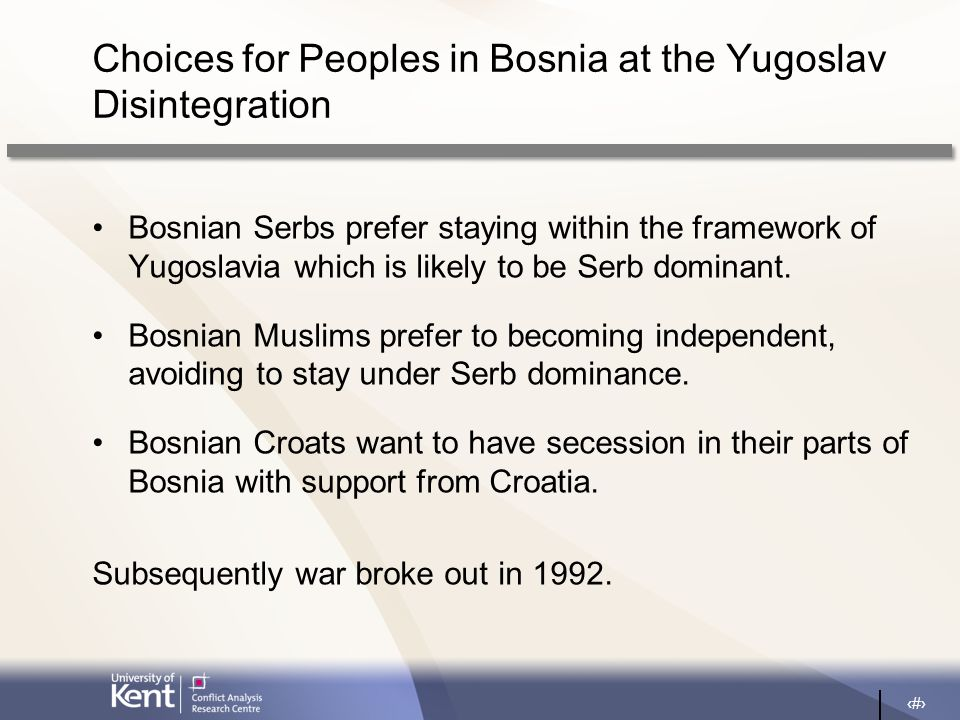 10 Bosnia under the Dayton Peace Agreement (1995)