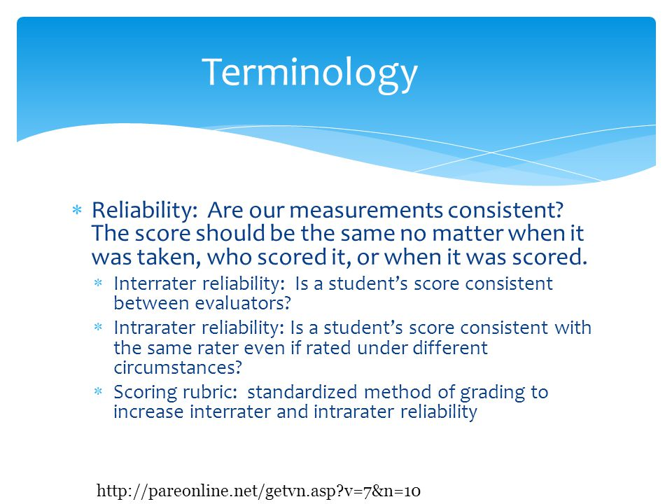  Criterion-referenced  Purpose is to evaluate students knowledge and skills compared to a pre-determined goal performance level  Gives information about a student's achievement of certain objectives  Should be possible for everyone to earn a passing score Norm-referenced v.