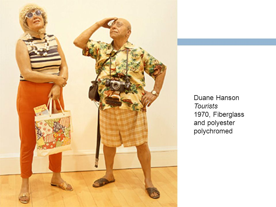 Duane Hanson Tourists 1970, Fiberglass and polyester polychromed