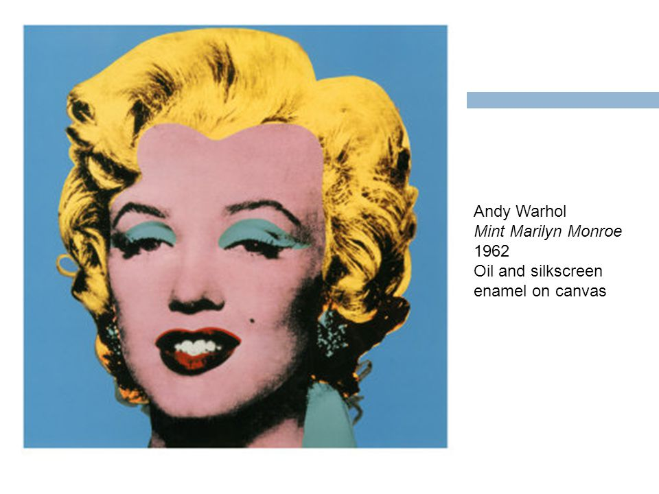 Andy Warhol Mint Marilyn Monroe 1962 Oil and silkscreen enamel on canvas