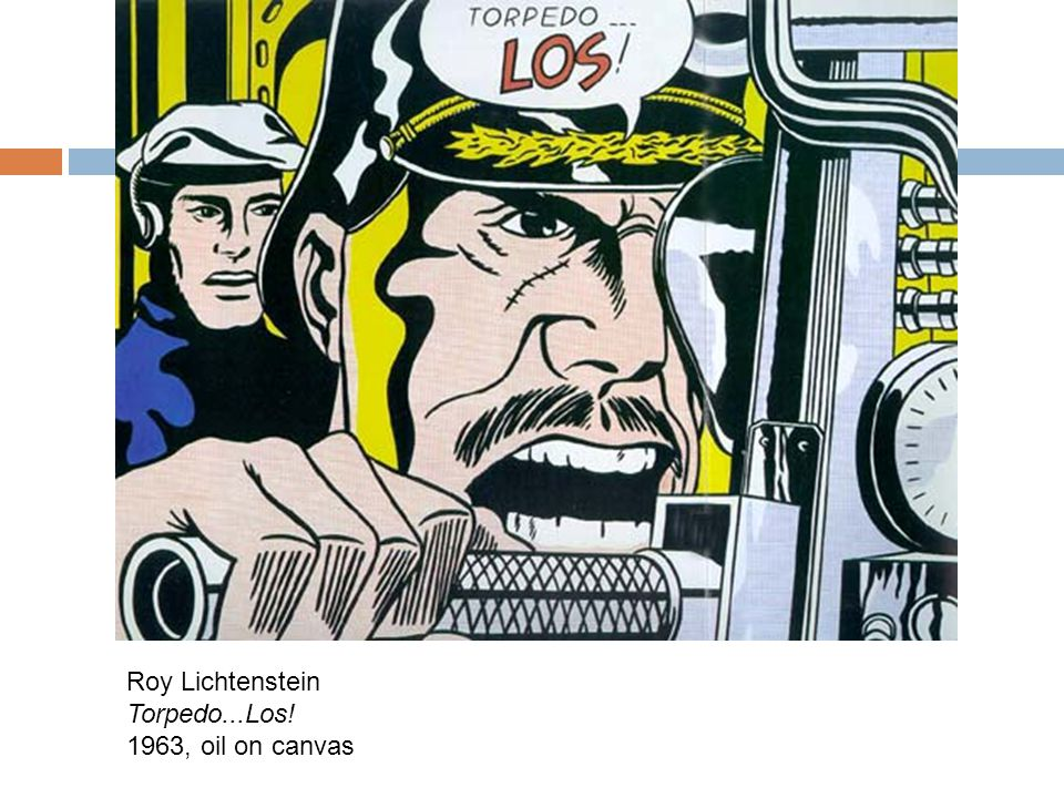 Roy Lichtenstein Torpedo...Los! 1963, oil on canvas