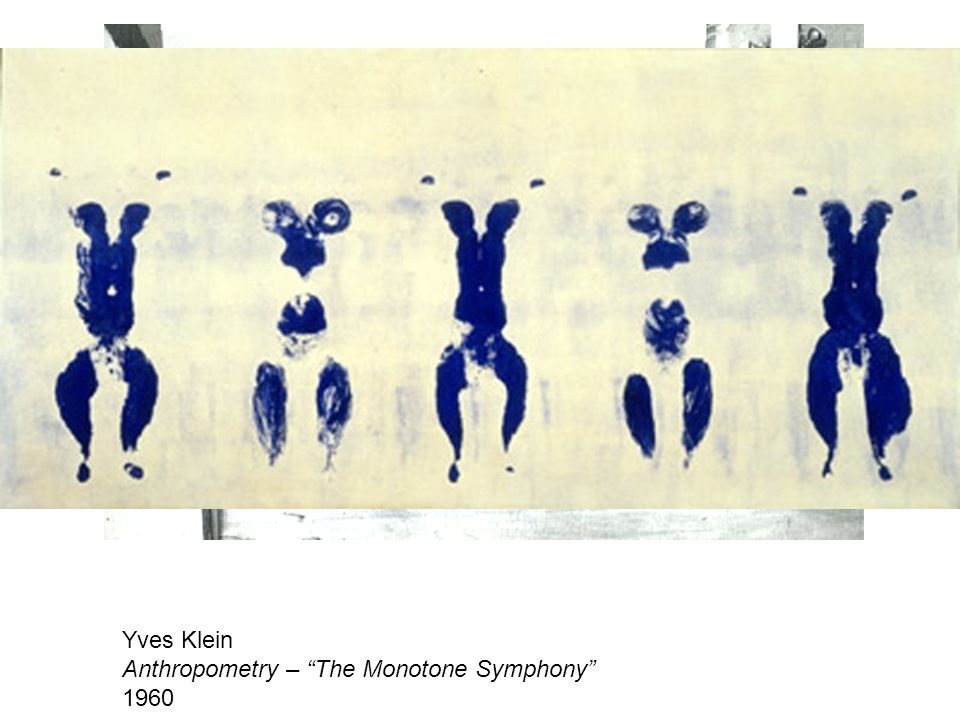 Yves Klein Anthropometry – The Monotone Symphony 1960