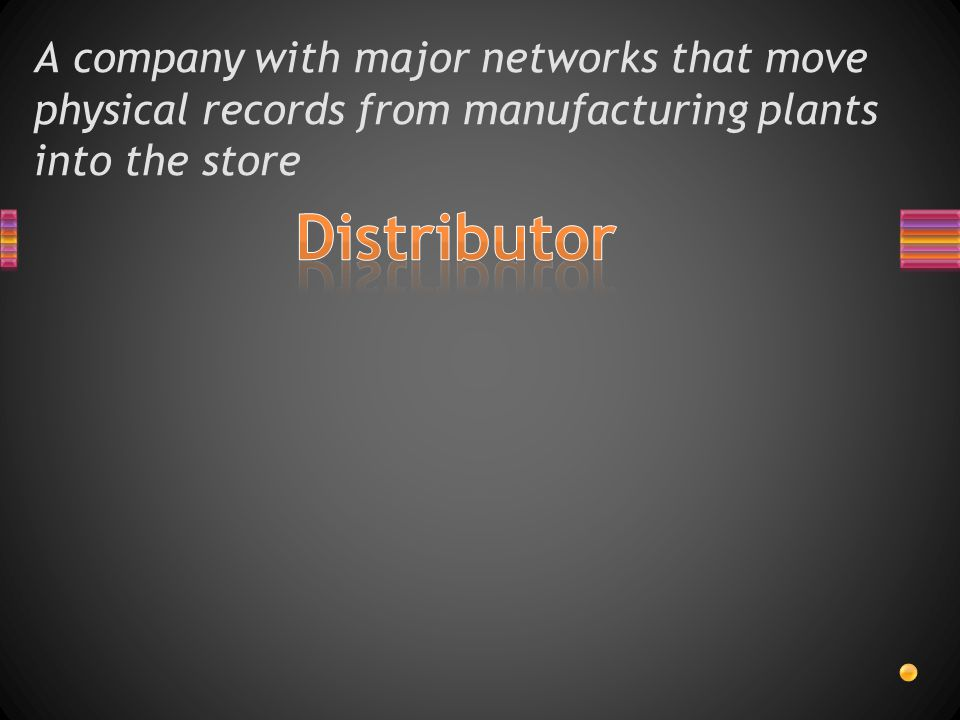 A company with major networks that move physical records from manufacturing plants into the store