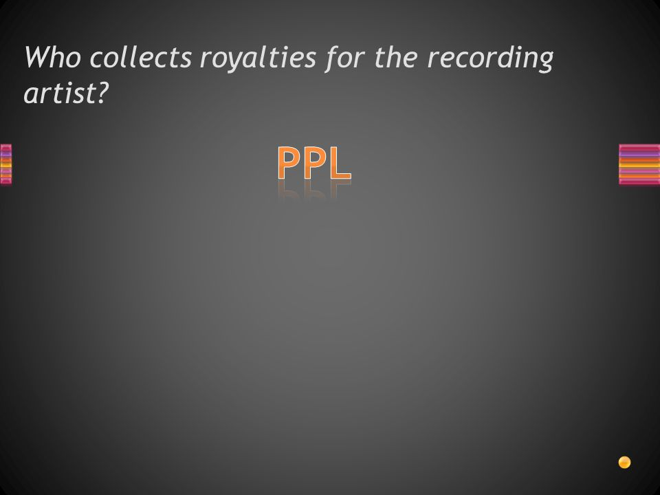 Who collects royalties for the recording artist?