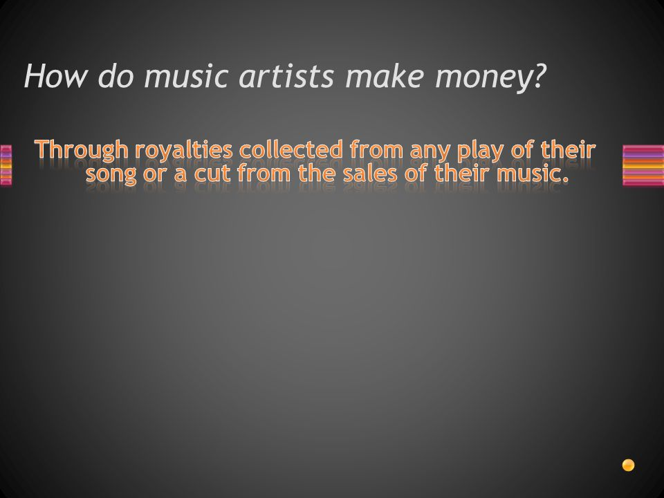 How do music artists make money?