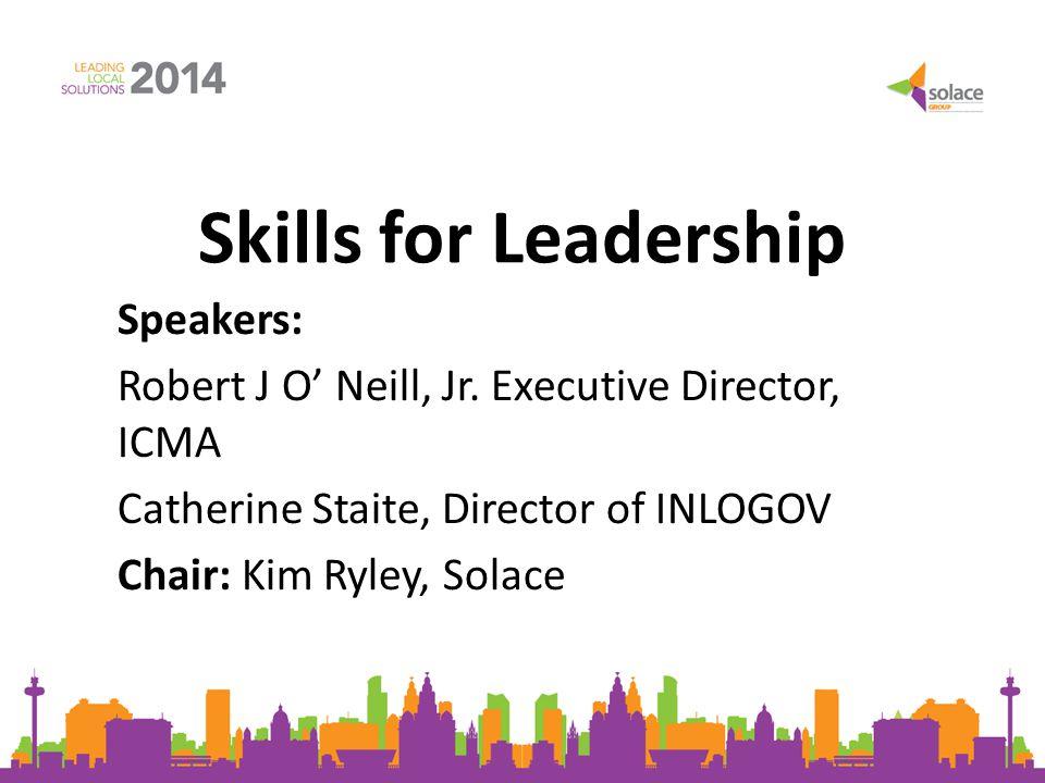 Future of the Profession: Leadership Attributes Robert J.
