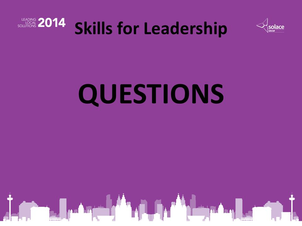 Skills for Leadership QUESTIONS