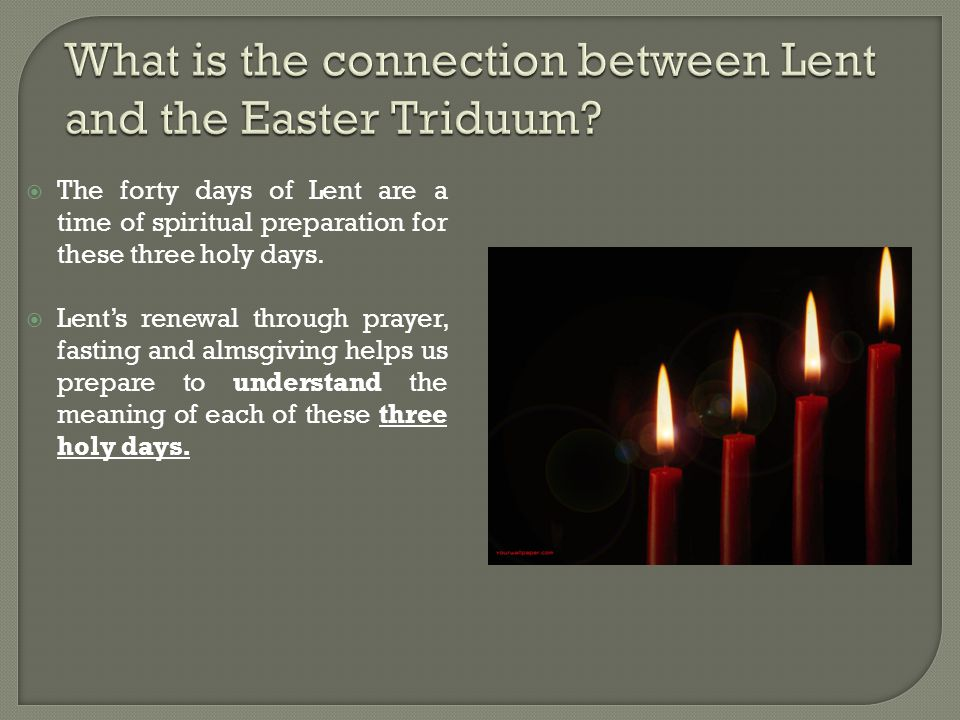  The darkened church, the procession, the paschal candle,the fire, and the Exsultet are all symbols that remind us that Christ's resurrection defeated the darkness of evil.