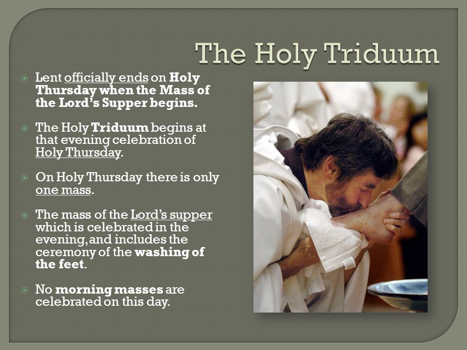  A.The faithful gathers in church to celebrate the institution of the Eucharist.